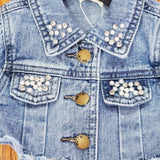 ML Kids Pearl Studded Crop Jacket