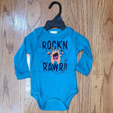 Up Baby Rock 'n Rawr Monster Onesie