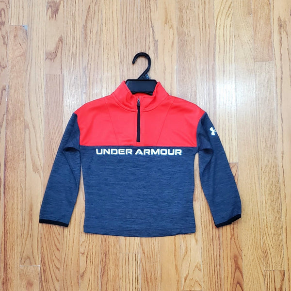 Under Armour Red/Gray 1/4 Zip