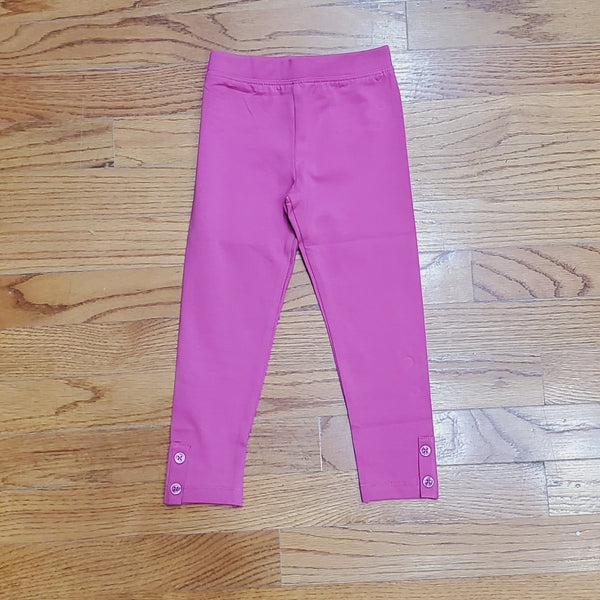 CR Sports Basic Pink Leggings with Button Placket