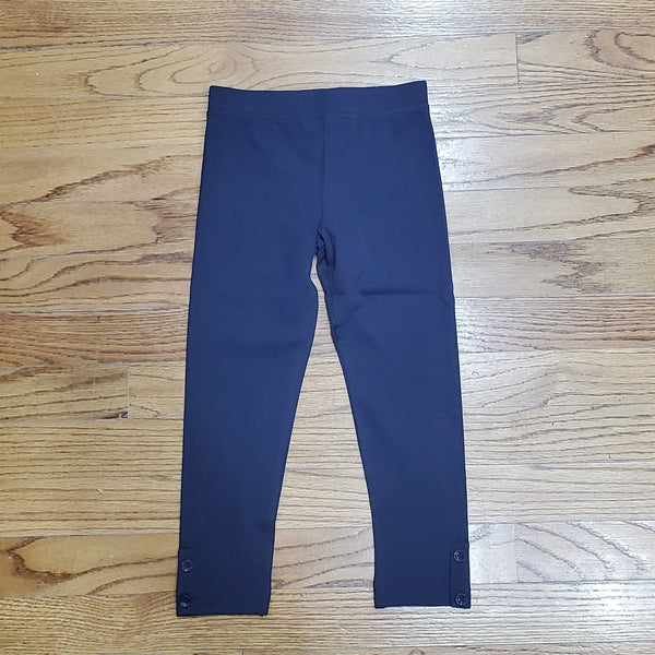 CR Sports Basic Charcoal Leggings with Button Placket