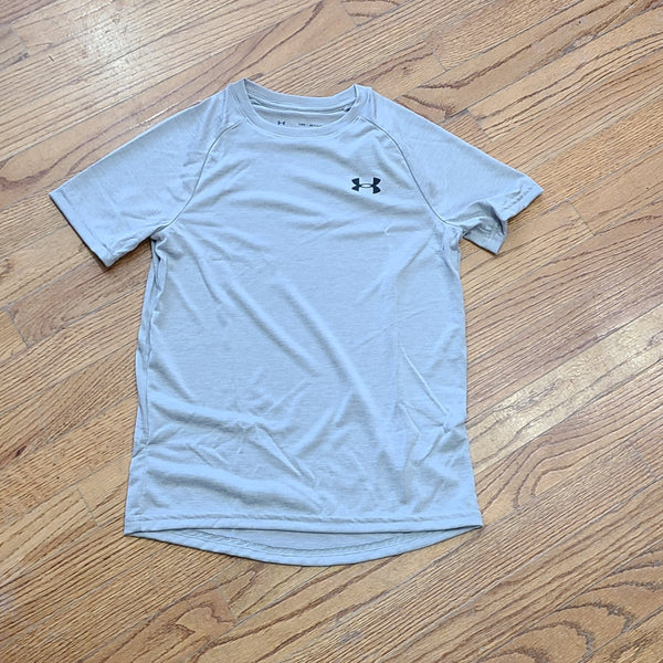 UA Youth Tech 2.0 Light Gray Tee