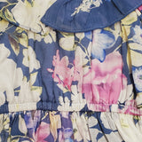 Isobella and Chloe Blue Floral Dress