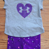 UA Splash Heart Bike Short Set