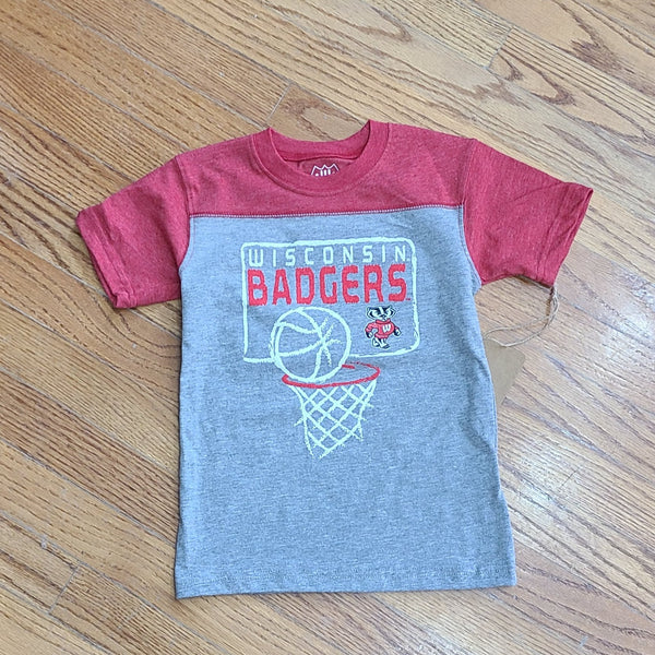 Wes and Willy Wisconsin Badger Triblend SS York Tee