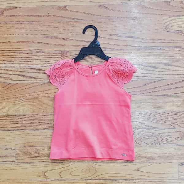 Mayoral Coral Lace Top