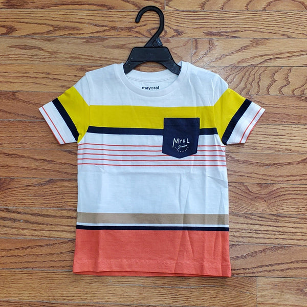 Mayoral Block Striped Tee