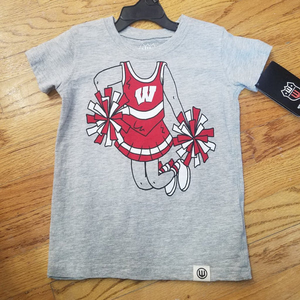 Wes and Willy Girls Badger Cheerleader Tshirt