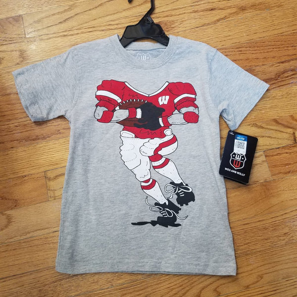 Wes and Willy Football Player tshirt
