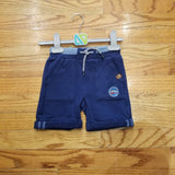 Noruk Navy Cuffed Cotton Short