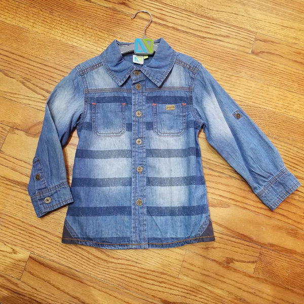 Noruk Striped Denim Shirt
