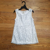 ML Kids Silver/White Sequins Dress