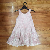 Isobella and Chloe Blush Lace Dress