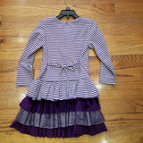 Isobella and Chloe Purple Striped Dress