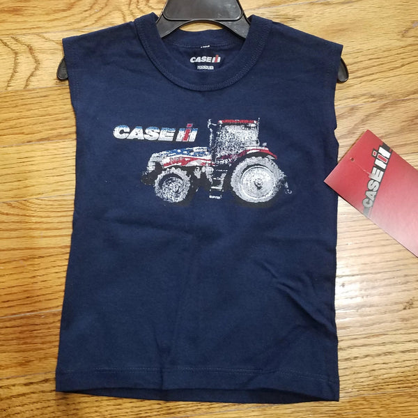 Case IH Distressed USA tractor muscle shirt
