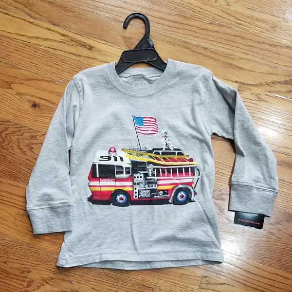 Wes and Willy Fire Engine/dog long sleeve