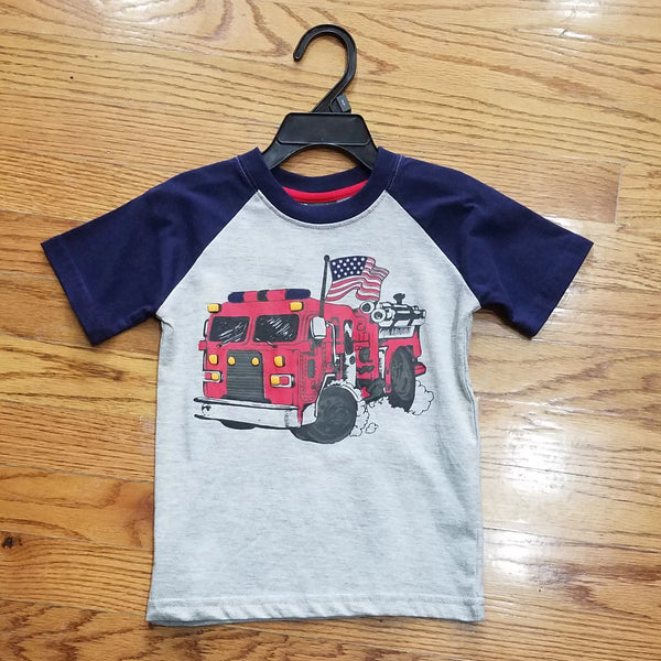 CR Sports Fire Truck shirt sleeve