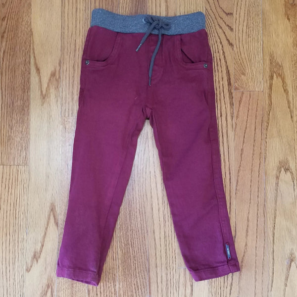 Up Baby Boys Maroon Pant