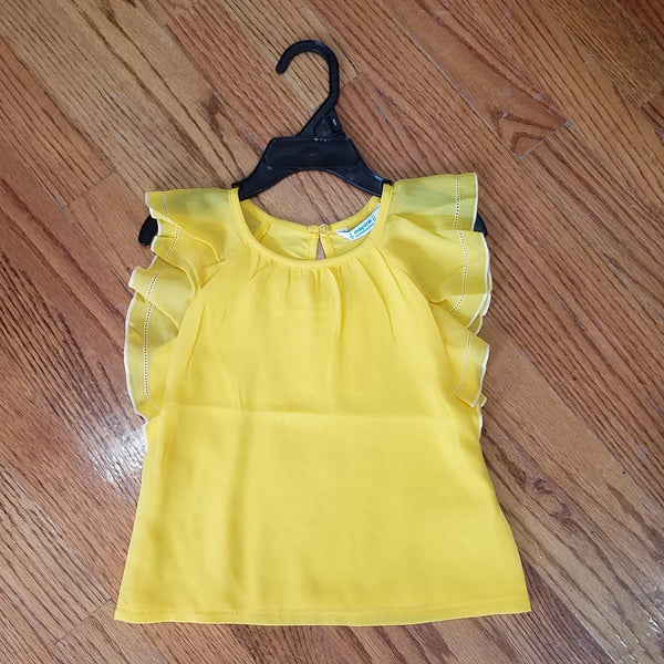 Mayoral Yellow Ruffle Shirt