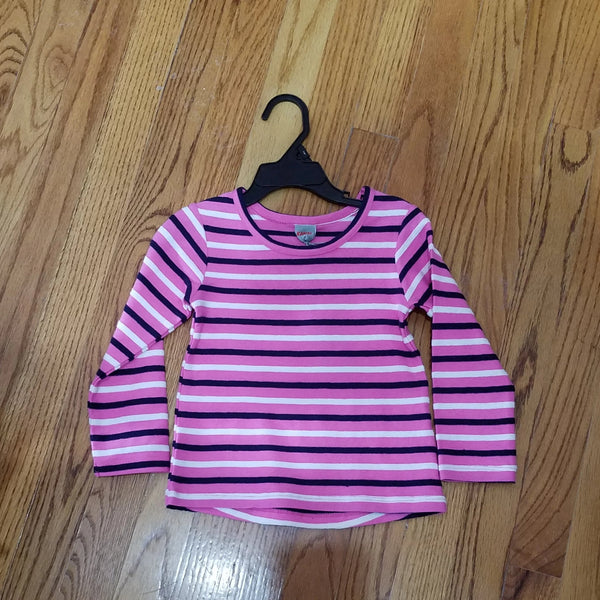 Kanz Pink/navy stripe long sleeve
