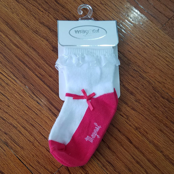 Mayoral Dressy dark pink baby Girls sock