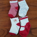 Mayoral 4pk girls red socks box set