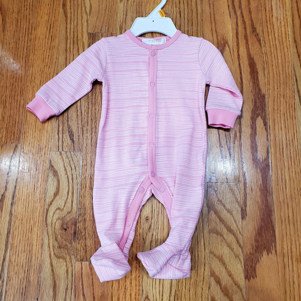 Petit Lem Pink Striped Sleeper