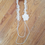 ML Kids Cream Flower/Lace Necklace