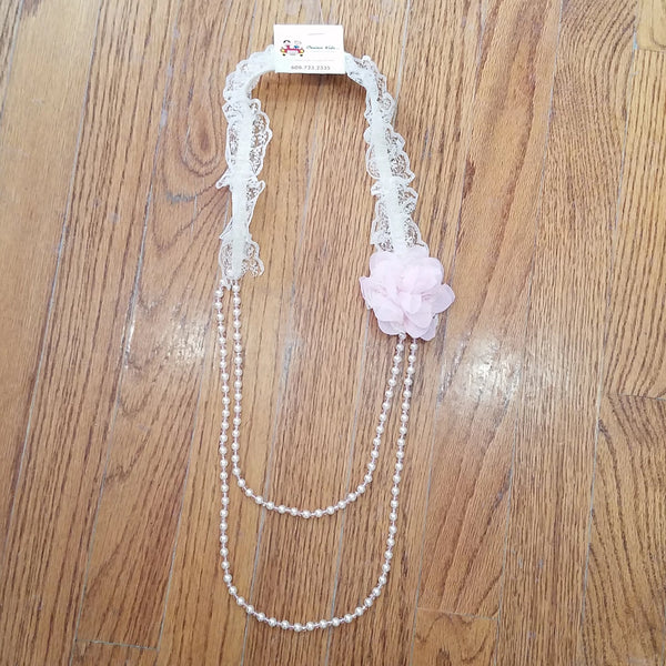 ML Kids Pink Flower/Lace Necklace