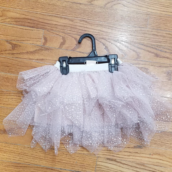 ML Kids Blush/silver Glitter Tutu