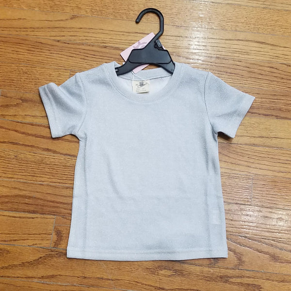ML Kids Silver Sparkle Tee