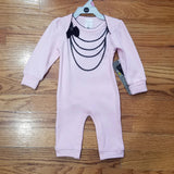 Kushies Pink Necklace Romper