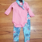 Up Baby coral/light blue floral Leggings