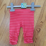 Noruk Light/Dark Coral Stripe leggings