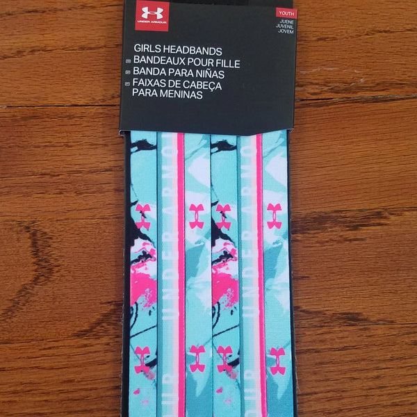 Under Armour Girls Headband- Mint/Coral