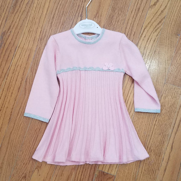 Mayoral Pink/Gray sweater dress