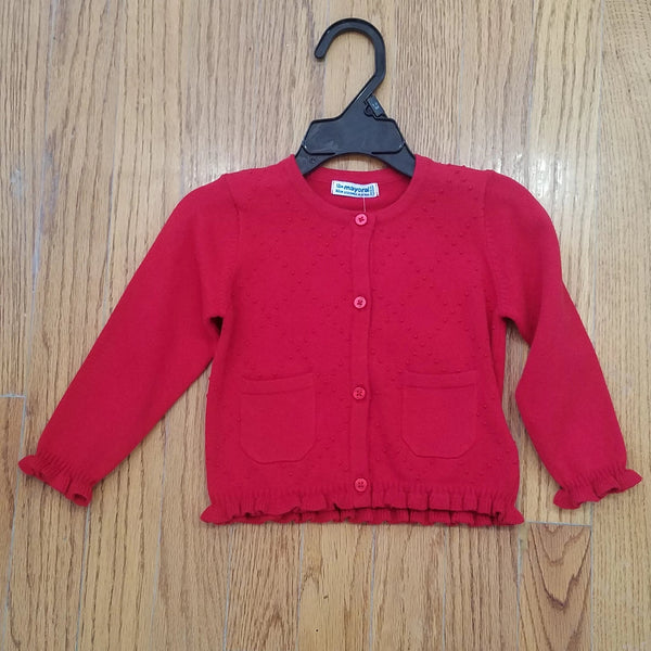 Mayoral Red Button Down Cardigan