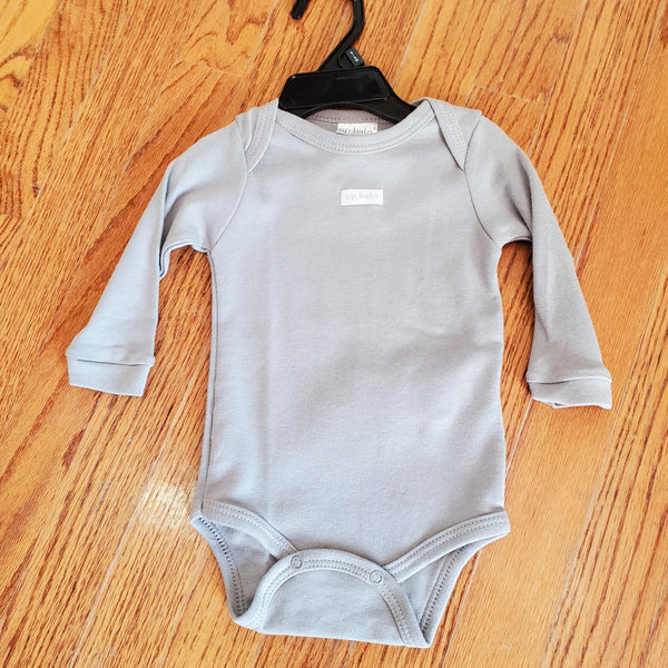 Up Baby Gray long sleeve onesie