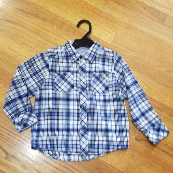 Kanz Blue Flannel Button Down