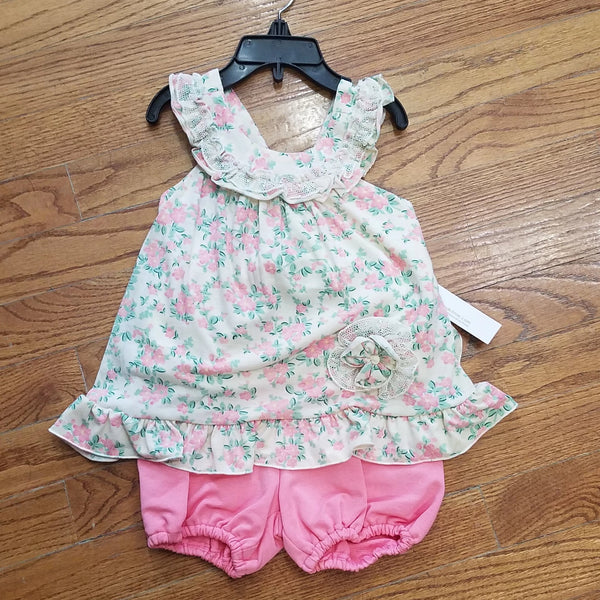 Isobella and Chloe pink floral 2pc