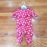 Little Me fleece floral Sleeper