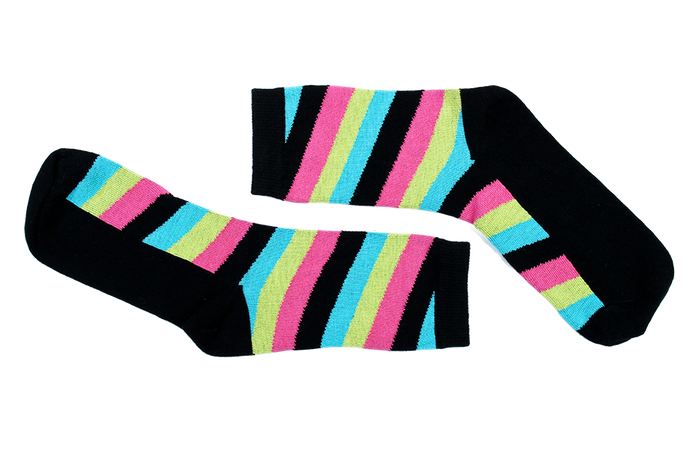 Diagonal Black-Pink-Blue