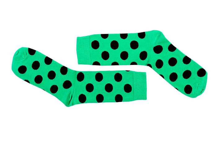 Green with Black Dots