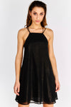 Black Shimmer Double Strap Dress