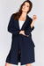 Navy Relaxed Long Blazer