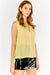 Yellow Sleeveless V Neck Blouse