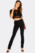 Black Skinny High Waisted Trousers