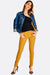 Yellow Low Rise Skinny Jeans