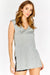 Grey Split Side Sleeveless Top
