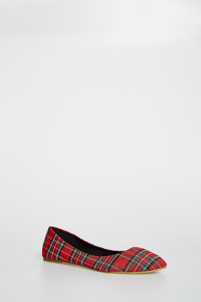Red Checkered Flats